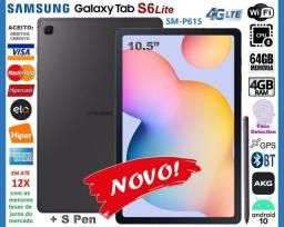 "Título do anúncio: Tablet Galaxy Tab S6 Lite 10.5"" 64GB 8Core, S Pen, GPS, Wi-Fi+4G, Novíss, Cx, NF, Troco"