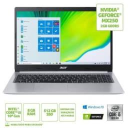 Notebook Acer Aspire 5 Intel Core I5 8GB 512GB Ssd Nvidia MX250 15,6 Novo Lacrado