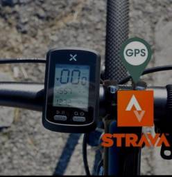 Título do anúncio: 10x Sem juros -Velocímetro<br>GPS Bicicleta Bike C/ Luz<br>Noturna Xoss G+ (Bluetooth/<br>STRAVA)
