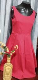 Título do anúncio: Vestido Midi Vermelho Marisa - Tam. 36