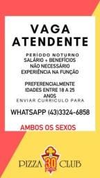 Título do anúncio: PIZZA CLUB QUINTINO CONTRATA
