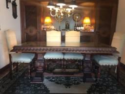Mesa de Jacarandá com 8 cadeiras