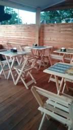 Promosao de mesas e cadeiras dobraveis , fone wts *