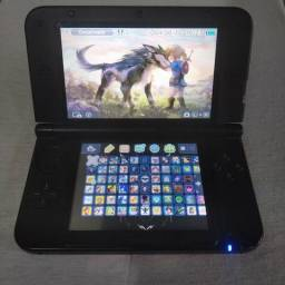 Nintendo 3ds Xl Red Desbloqueado 64Gb com 70 Jogos