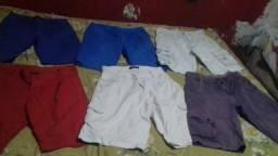 Lote de roupas masculinas