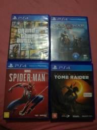Spiderman, god of war, tomb raider, GTA