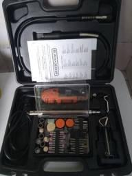Micro-Retífica Multiuso + 113 Peças 180W RT18KA - Black+Decker