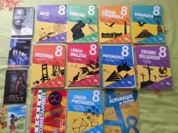 Livros didáticos do 8° ano colegio adventista