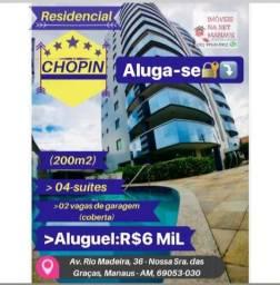 Aluga-se Edifício Res. Chopin 04 suítes andar alto no vieiralves (semi-mobiliado)