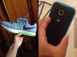 Moto e 2geração e Tênis Nike original