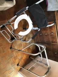 Cadeira de rodas Higiene Banho e andador