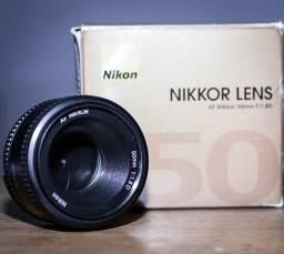Lente Nikon 50mm 1.8D SEM FOCO AUTOMATICO