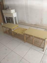 Banco rack de bambu entrego dentro Uberlândia