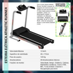 Esteira modelo runner com sensor de pulso + cardio