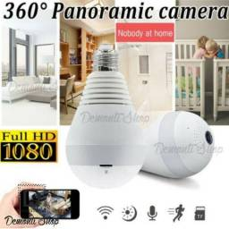 Lâmpada Espia Camera Ip Led Wifi Hd Panorâmica 360º Celular