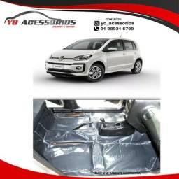 Protetor De Assoalho Verniz Volkswagen UP 2013 a 2020 Impermeável Preto