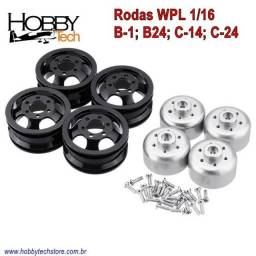 Wpl Rc 1/16 Rodas Alumínio 04 Unidades - Novo