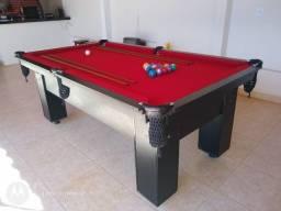 Título do anúncio: Mesa de Bilhar Preta Tx Tecido Vermelho Modelo KYÇ5454