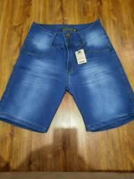 Nova **Bermuda jeans cós alto ,recorte levanta bumbum Tam 44 $59,99