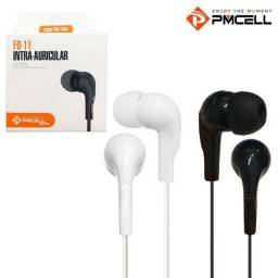Fone de Ouvido Intra-Auricular Basic PMCELL Branco