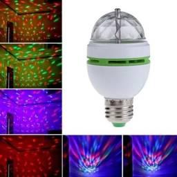 Lâmpada Colorida Para Festas / Led Full Color Rotating Lamp