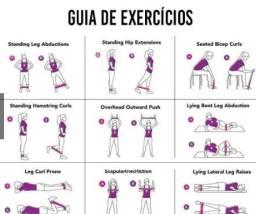 Kit 5 Faixas Elastica Mini Band Elastico Musculação Funcional Exercício Yoga Fisioterapia