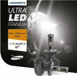 Ultra Led 6000k Titanium Shocklight H4 5000 Lms - 1 Lampada (MOTO)