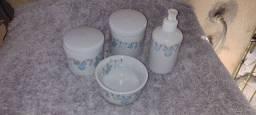 Kit higiene para bebê porcelana
