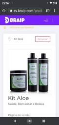 Título do anúncio: Kit aloe, tratamento de 1 mês, para antiquadas e crescimento capilar.