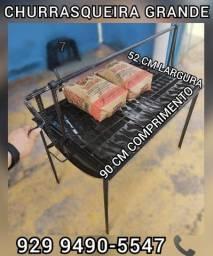 Título do anúncio:  churrasqueira grande tambo  brinde 2 saco Carvão entrega gratis #$!