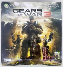 Xbox 360 Slim Edição Do Gears of War Completo Dois Controles 320gb LTU