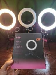 Kit Ring Light 6 pol + tripé