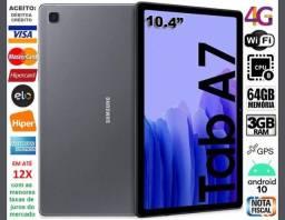 "Título do anúncio: Galaxy Tab A7 Tela 10.4"", 64GB Octa Core, 3GB Ram, Wi-Fi+4G, GPS, Novíss, Caixa, Gar, NF"