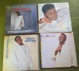 4 Vinis Emílio Santiago- Álbum Aquarela Brasileira.