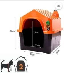Título do anúncio: Casa Pet Casinha Cachorros N°2 Telhado Chaminé