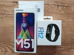 Samsung Galaxy M51+ Brinde Galaxy Fit 2