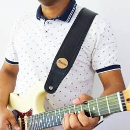 Correia Alça Basso Classic Couro Legítimo Violão Guitarra Baixo - NOVA Até 12x S/J