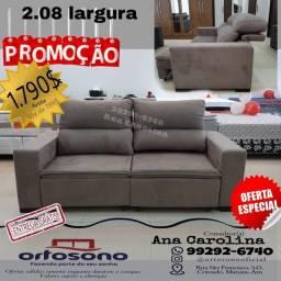 Título do anúncio: Sofa retratil e Reclinavel 2.08 largura