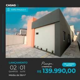 Título do anúncio: Casa no João Paulo Segundo com 2 Quartos sendo 1 Suíte R$ 139.990,00*