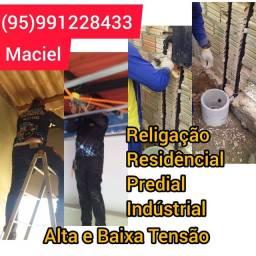 Título do anúncio: Eletricista Maciel Religação Residêncial Predial Indústrial Eletricista
