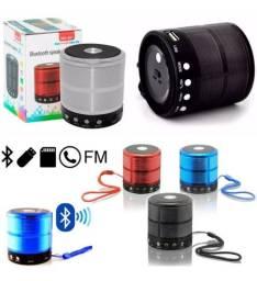 Mini caixa de som speaker portátil rádio FM/ Bluetooth