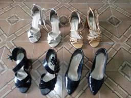 Venda de sapatos usados.
