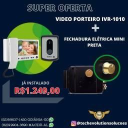 Título do anúncio: Kit Video Porteiro ivr 1010 + Fechadura eletronica