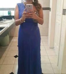 Vestido azul royal  longo M