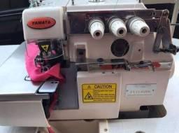 Máquina reta industrial siruba e overlock yamata