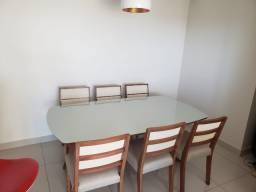 Título do anúncio: Mesa de jantar saboya retangular de 6 cadeiras de madeira e telinha