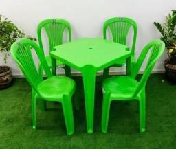 Título do anúncio: Jogo de Mesa c/4 Cadeiras Bistrô Testadas em 140 kg - Cores