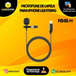 Microfone Lapela para iPhone