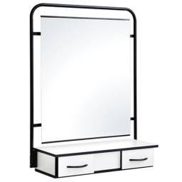2 Espelho e Console com gavetas para salão de Beleza