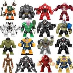 Bonecos Marvel e DC Formato Lego